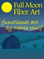 Full Moon Fiber Art
