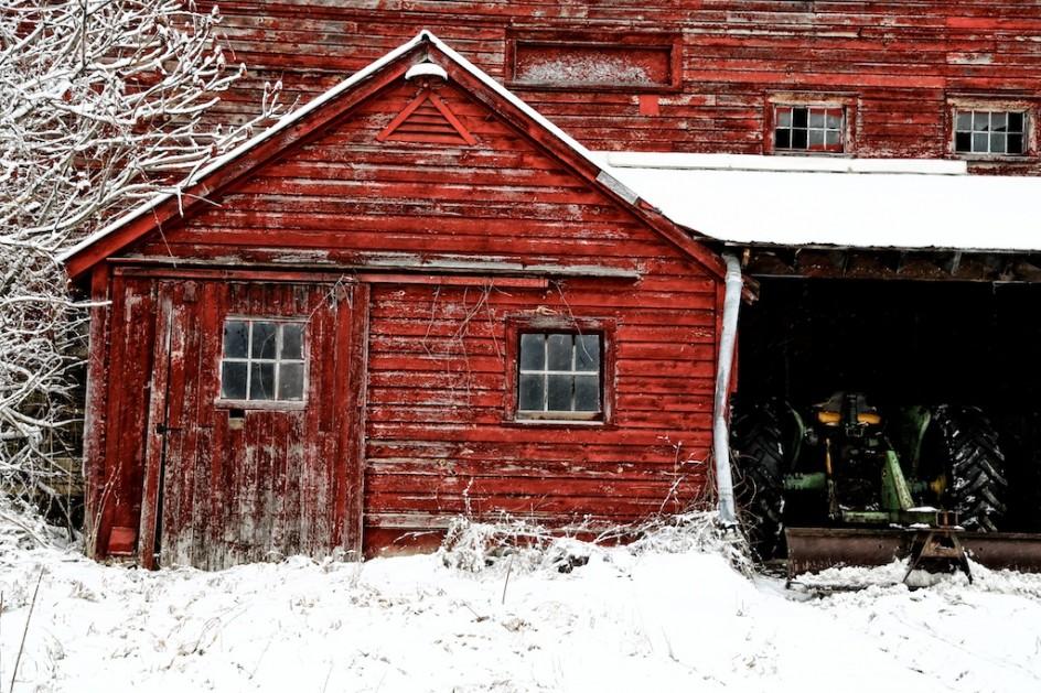 Barn Door After Snow