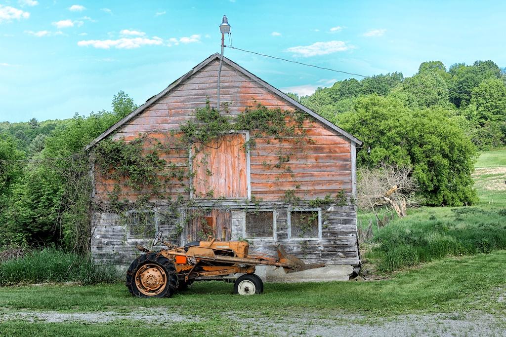 Poem Sometimes Old Barn Salem N Y Bedlam Farm