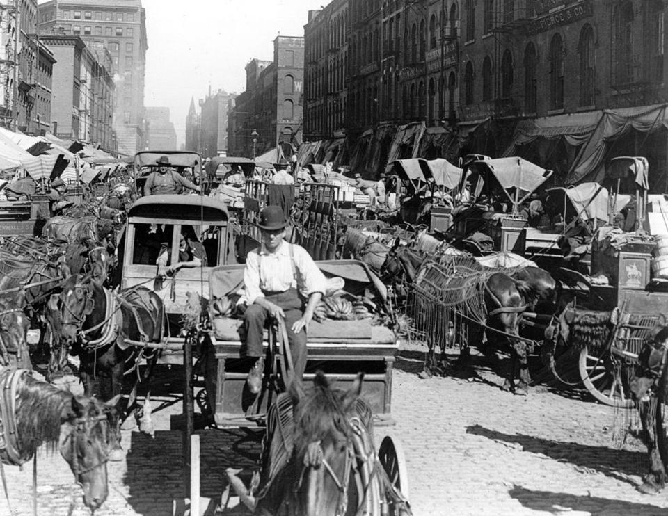 Draft Horses And Urban Congestion Circa 1937 Bedlam