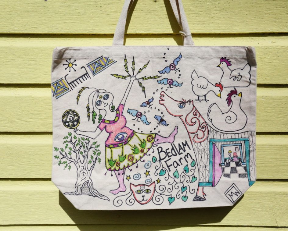 The Bedlam Farm Tote Bags